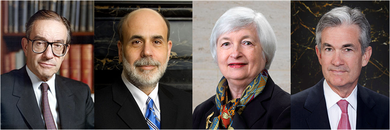 Greenspan Bernanke Yellen Powell